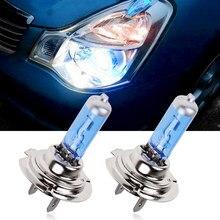 2 uds H7 H4 H1 6000K Xenón halógena bombillas de faro delantero de coche 12V Super brillante luz blanca bombillas halógenas de coche de los faros de coche