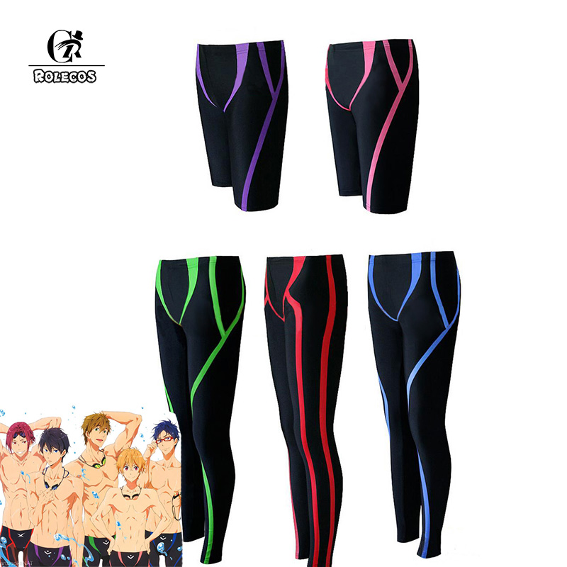 ROLECOS Anime Free!: Dive to the Future Cosplay Swimming Trunks Haruka Makoto Rei Nagisa Rin Iwatobi Swimming Pants Free Cosplay