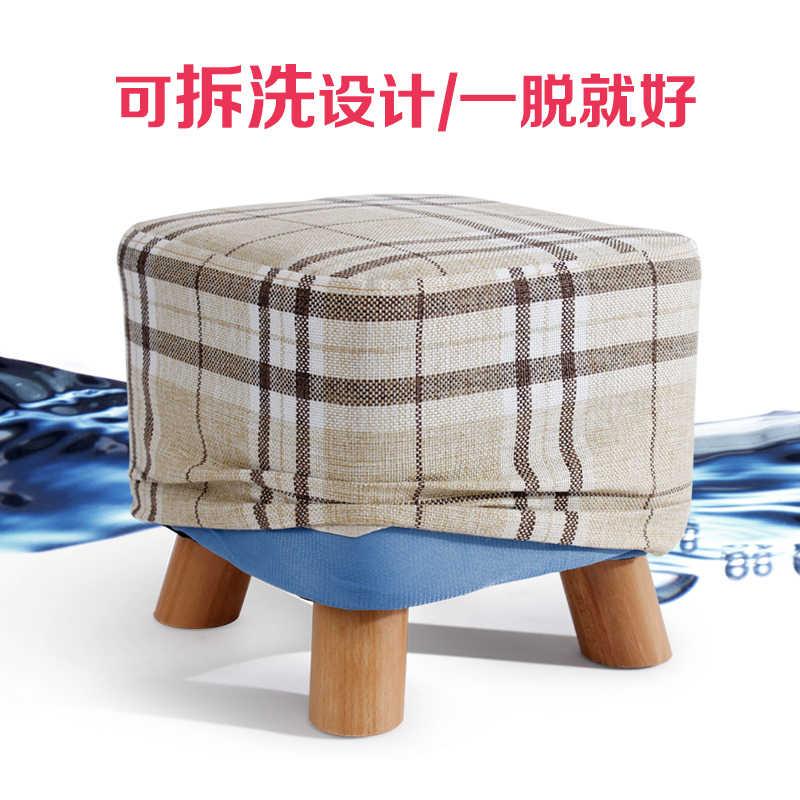 Деревянная обувь модная обувь табуреты скатерть, диван скамья простой стул пуф taburete poef стул с подставкой для ног
