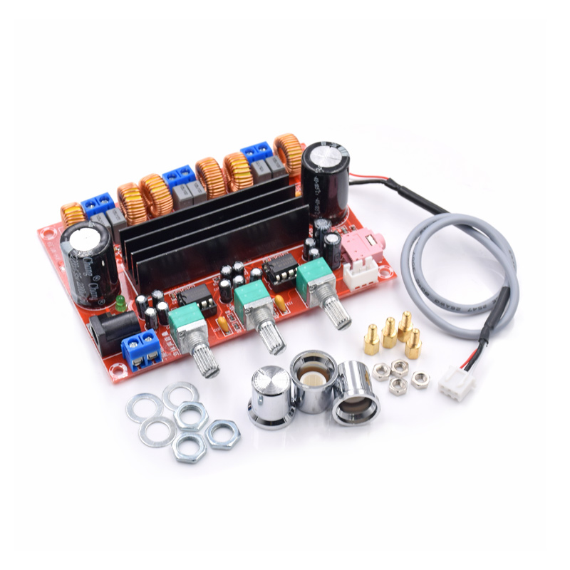 DC12V-24V 2*50W+100W XH-M139 2.1 Channel digital Subwoofer Amplifier Board Chip TPA3116D2 new arrival tpa3116d2 50wx2 100w 2 1 channel digital subwoofer amplifier board 12v 24v power free shipping