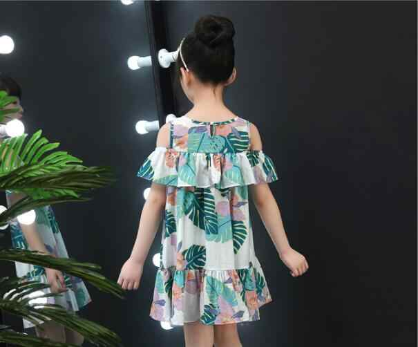 b76878f98d58c Baby Girls Floral Dress Brand Summer Beach Party Cotton Lace Beach dresses  Toddler Girl Clothing Kids For 6 8 10 12 14 Years