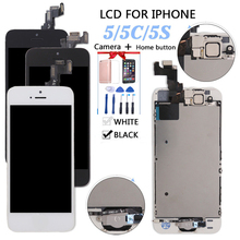 High Quality Full Assembly LCD screen for iPhone 5/5C/5S/SE Display Touch Screen Digitizer Pantalla+Button+Camera