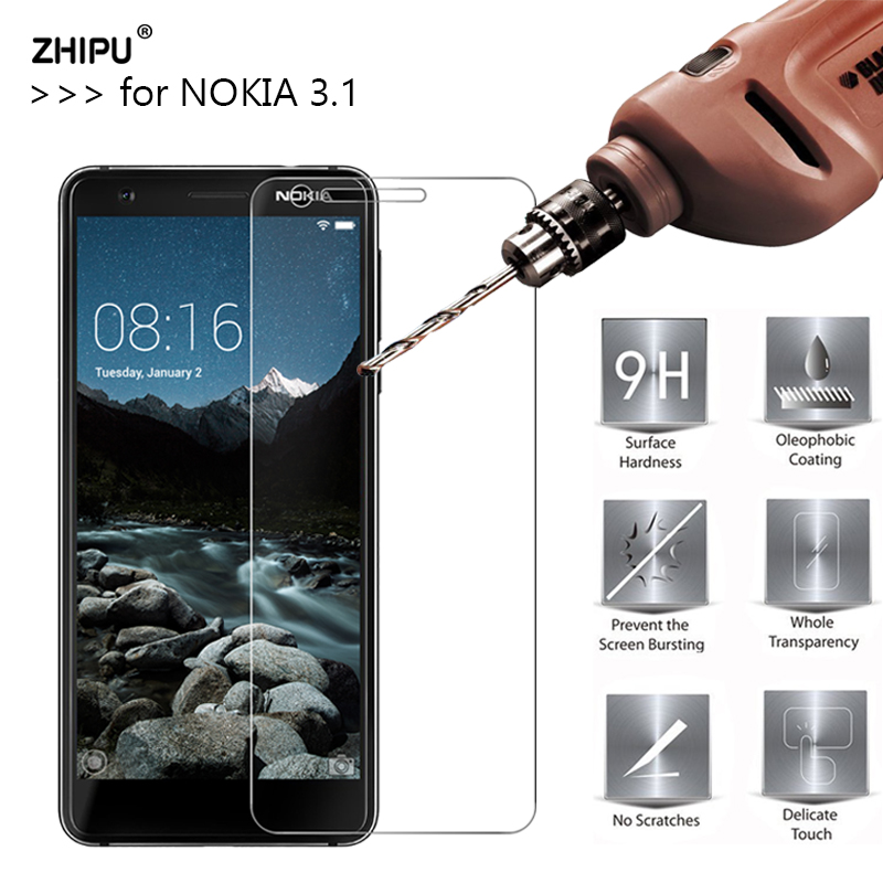 2.5D 0.26Mm 9H Premium Tempered Glass For Nokia 3.1 Display Protector Protecting Movie For Nokia 3.1 5.2 Inch