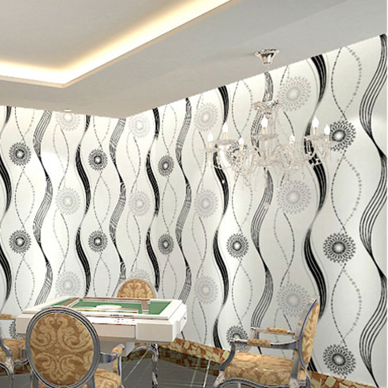 L&S High Quality Modern Circle Wallpaper Wall Paper For Living Room Bedroom TV Sofa Background WP16086