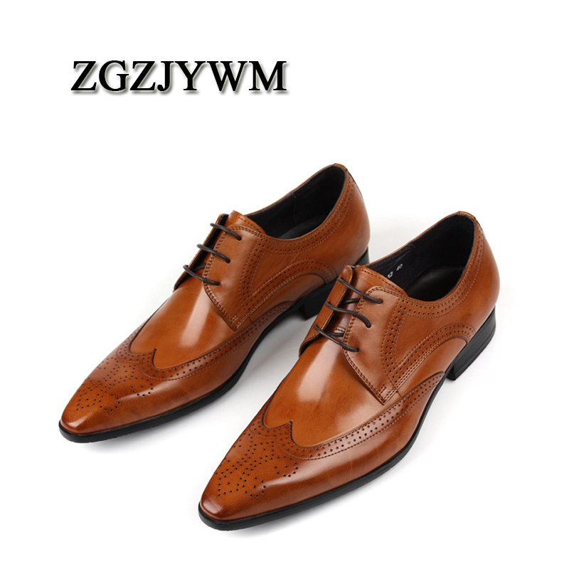 ZGZJYWM New Breathable Mens Business Lace-Up Black/Red/Brown Pointed Toe Dress Genuine Leather Wedding Oxfords Office ShoesZGZJYWM New Breathable Mens Business Lace-Up Black/Red/Brown Pointed Toe Dress Genuine Leather Wedding Oxfords Office Shoes