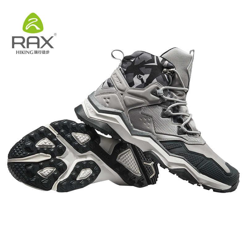 Rax Männer Wasserdichte Wanderschuhe Outdoor Professionelle Berg Trekking Schuhe Leder Taktische Stiefel für Männer Licht Wandern Schuhe