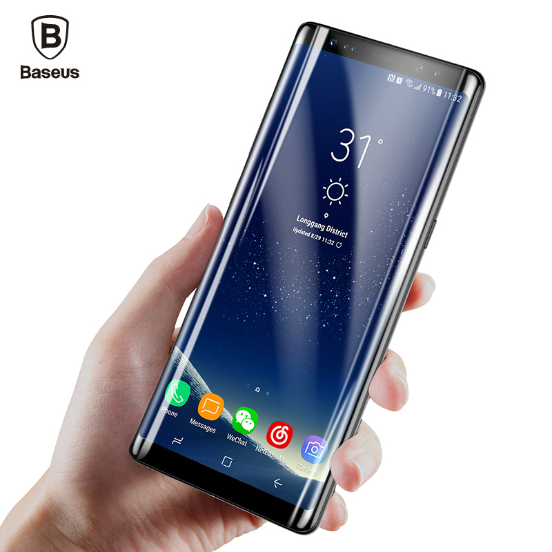 Baseus Screen Protector For Samsung Galaxy Note 8 3D Arc Premium Full Protective Glass Film For Galaxy Note8 Tempered Glass FilmBaseus Screen Protector For Samsung Galaxy Note 8 3D Arc Premium Full Protective Glass Film For Galaxy Note8 Tempered Glass Film
