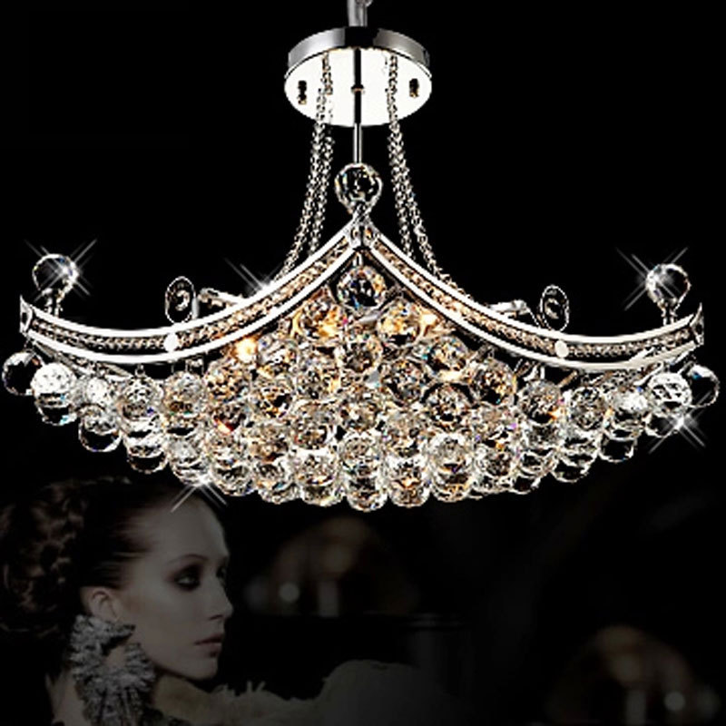 crystal candle chandelier living room restaurant bedroom lamp LED Lustre Arms Light Crystal Chandeliers Multiple lamp selection edox 80081 37rbrir