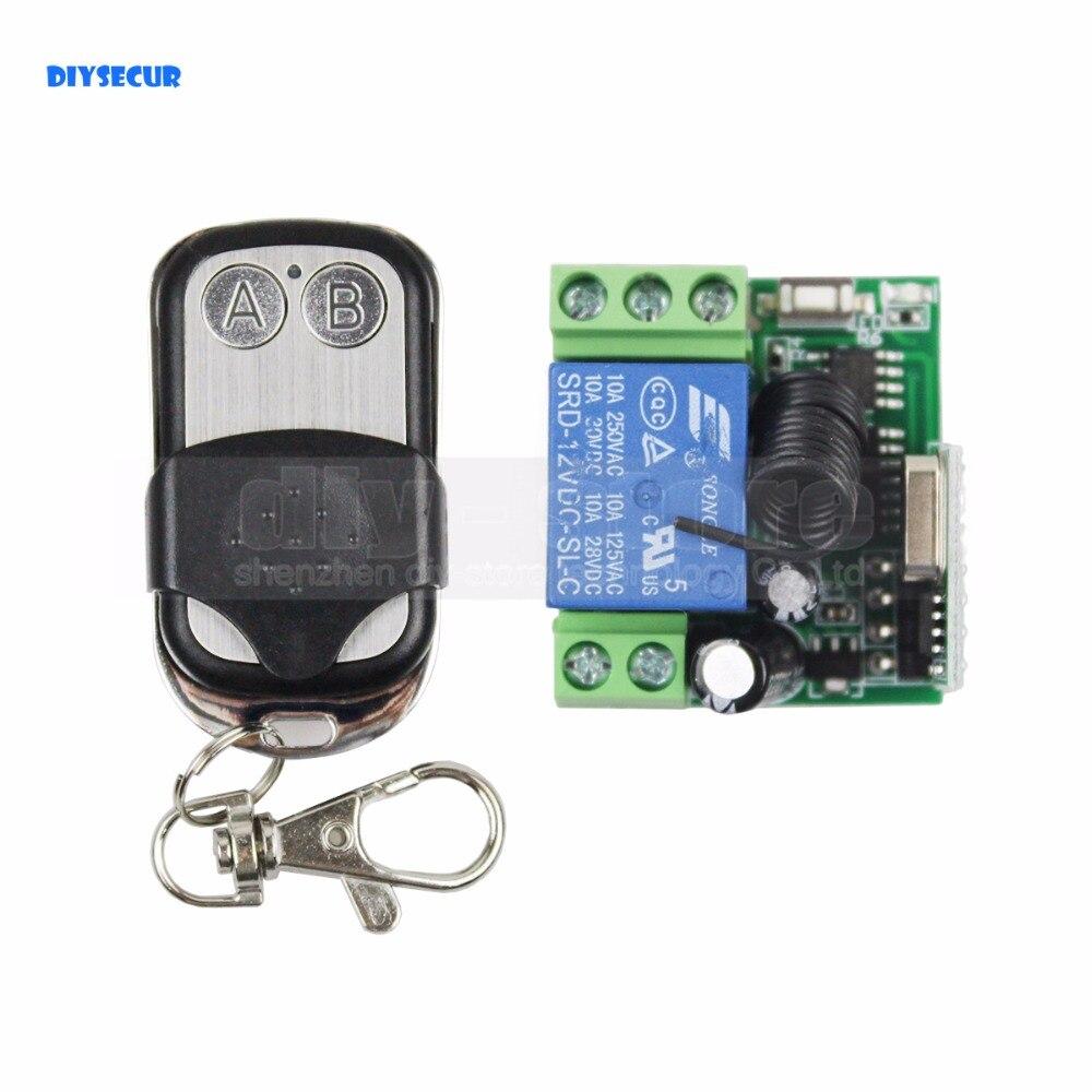 Diysecur Беспроводной Дистанционное управление удаленного коммутатора для дверного замка Система контроля доступа ...