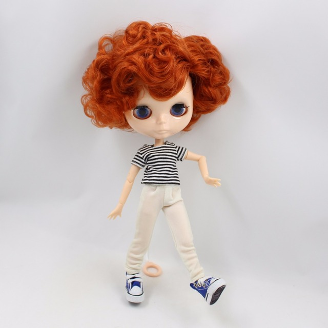 TBL Neo Blythe Doll Red Hair Male Jointed Body