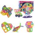 Kits de diseño 3d de construcción de juguete magnético magnético grandes bloques enlighten plástico educativos niños niños regalo