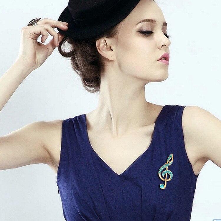 MZC slatka duga nota glazba broach ženski šarene vještački - Modni nakit - Foto 3
