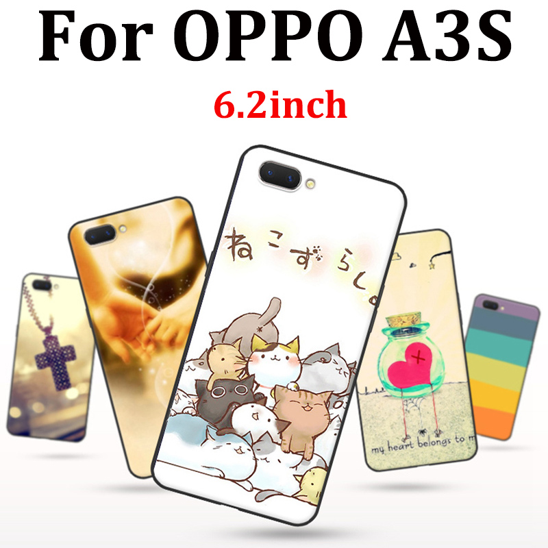 6.2inch For OPPO A3S Case cute cartoon soft phone Case OPPOA3S Cover Protection Shell For OPPO A 3 S fundas capas For OPPO A3 S image