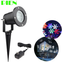 Holiday Lighting Christmas Snowflake Projector Outdoor Led Lawn Light Waterproof For Garden Decor White RGB With