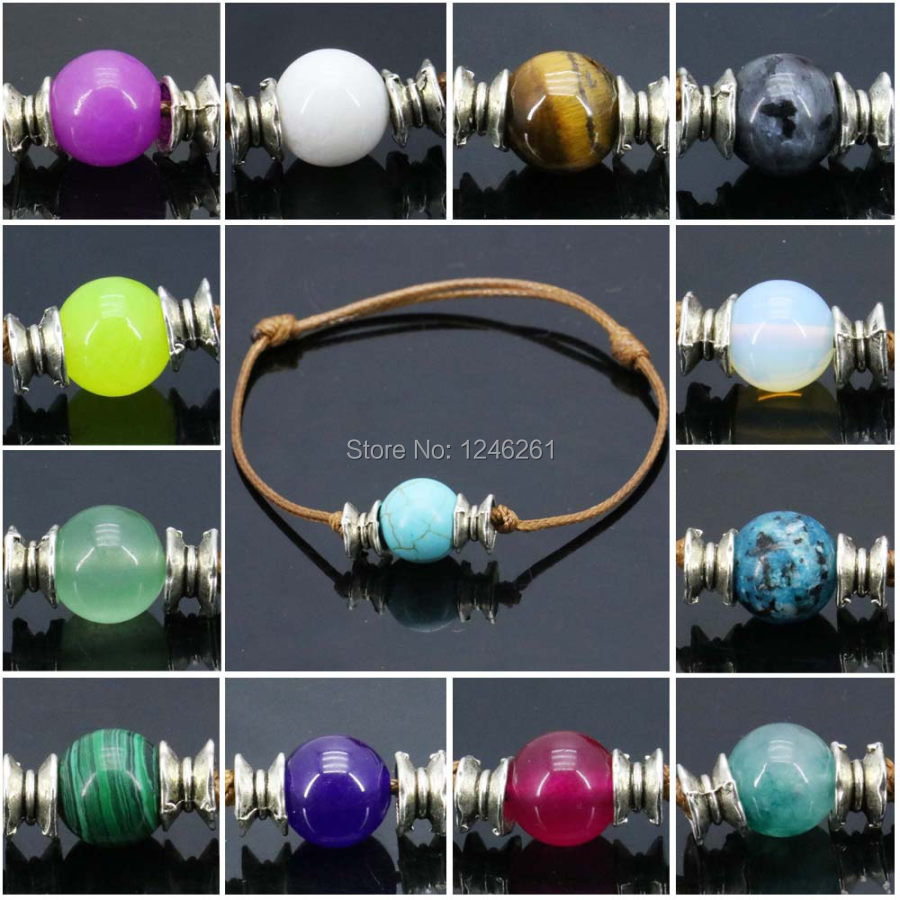 10pcs Natural Stone Beads Bracelet Round Accessory Jewelry Making Bracelet  Strand Lucky Women Girls Birthday Present Gifts 10mm 668c6d887a45
