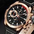 Reloj de Cuarzo CURREN Hombres Relojes de Primeras Marcas de Lujo Famoso Reloj Hombre Reloj Reloj Luminoso reloj Masculino Relogio Del 2016