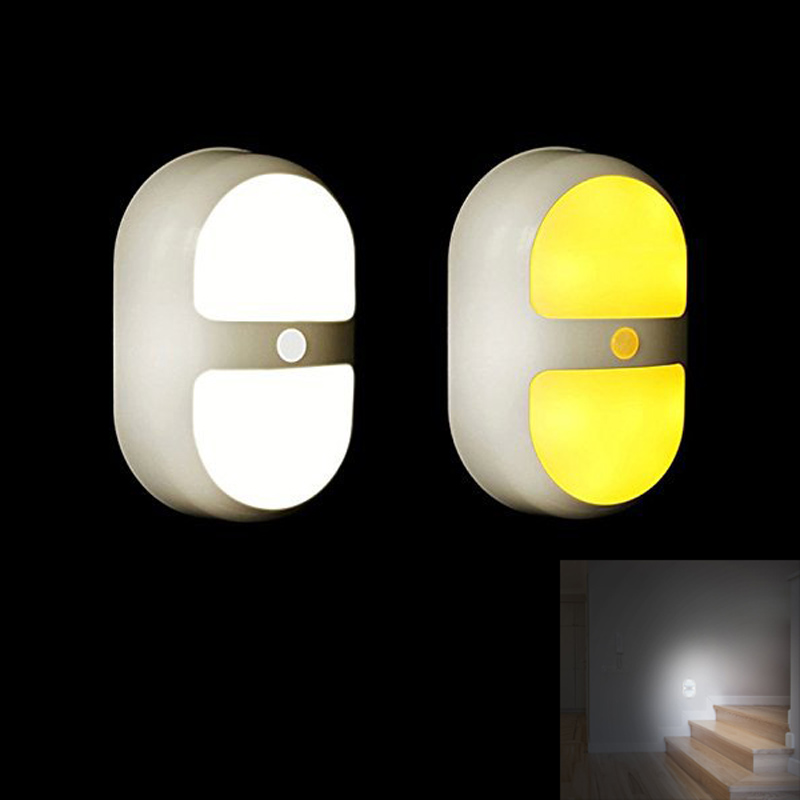 Night Light Motion Activated Battery Operated Wall Lights With 10 Led And Dual Sensor For Stairs Bathroom