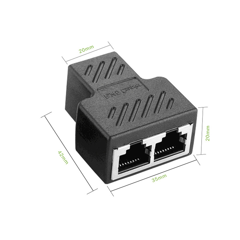 Image 5 - 1 To 2 Ways RJ45 Ethernet LAN Network Splitter Double Adapter Ports Coupler Connector Extender Adapter Plug Connector Adapter-in Computer Cables & Connectors from Computer & Office