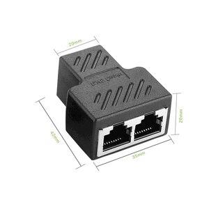 Image 5 - 1 a 2 Modi RJ45 Ethernet LAN di Rete Splitter Doppio Adattatore Porte Accoppiatore Connettore Extender Spina di Adattatore del Connettore Adattatore