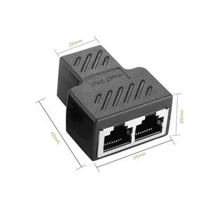 Image 5 - 1 ila 2 yollu RJ45 ethernet lan ağı Splitter çift adaptörü bağlantı noktaları çoğaltıcı bağlayıcı genişletici adaptör fiş konnektörü adaptörü