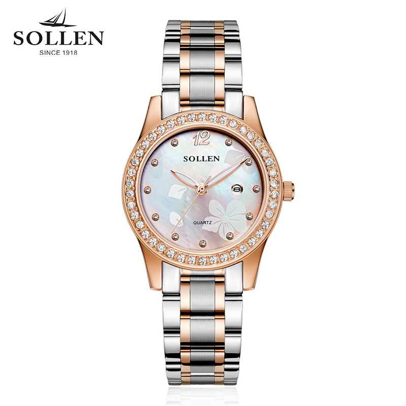 women Watches Top Brand Day Date Luminous Hours Clock Stainless Steel Casual Quartz Watch women dress Wristwatch montres femmes new arrival 2015 brand quartz men casual watches v6 wristwatch stainless steel clock fashion hours affordable gift