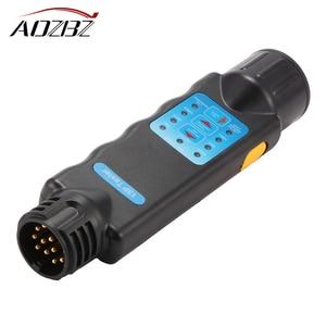 Image 1 - אבחון כלי 13 פין רכב קרוון קרוואן גרירת Tow בר אור חיווט מעגל Tester Plug Socket עם ROHS אושר