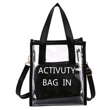 Women PVC Shoulder Bag Transparent Handbag PVC Messenger Crossbody Bags Fashion Casual Tote Clear Jelly Totes Small Square Bag