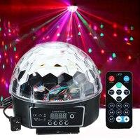 DMX512 RGB Премиум звук Управление сценический свет светодиодный 27 W 9 W Светодиодный S RGB магический лампа с хрустальным шаром направленный диско...