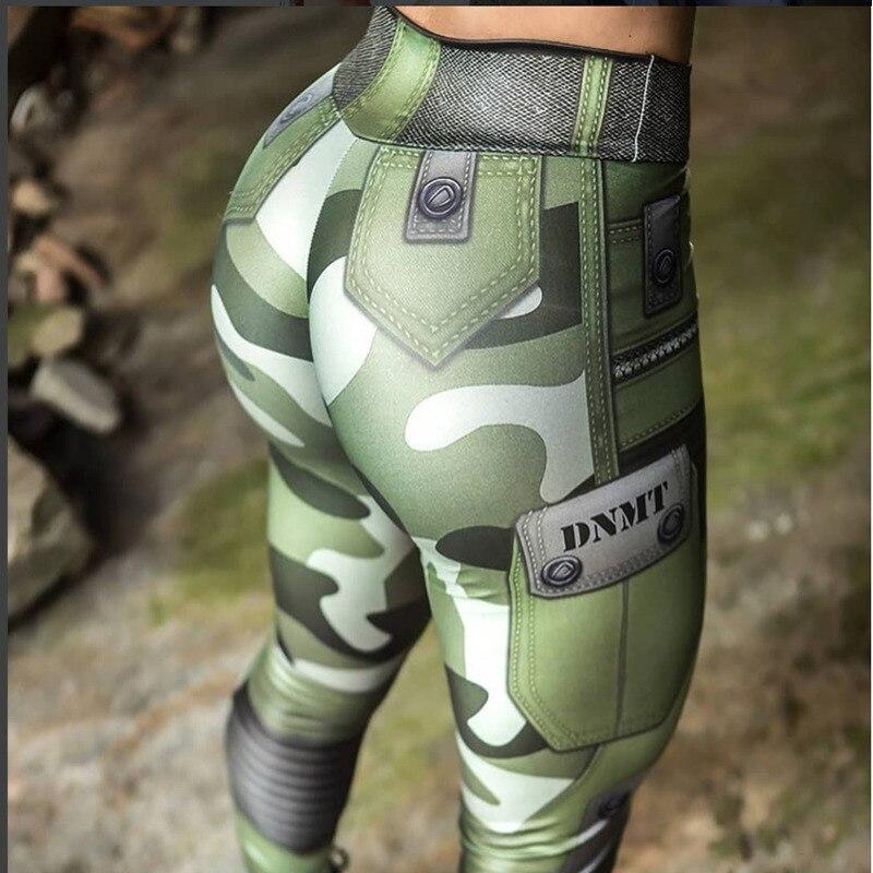 Women Fitness Push Up   Leggings   High Waist Elastic Workout   Legging   Pants Fshion Female Green 3D Printed   Leggings   Plus Size Femme