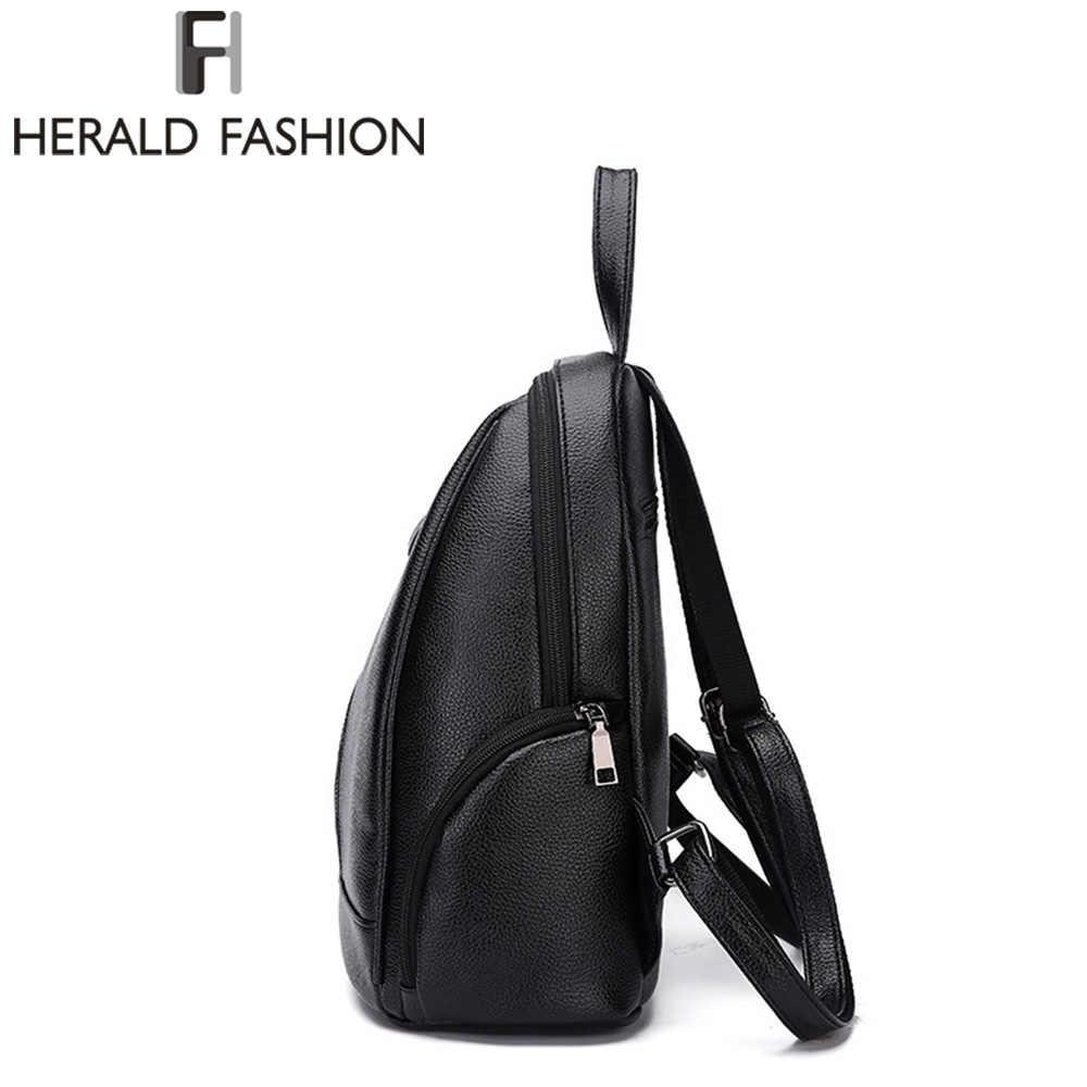 1e411b64a1a9 ... Herald Fusion из искусственной кожи рюкзаки для подростков обувь  девочек на молнии рюкзак женский к школьные ...