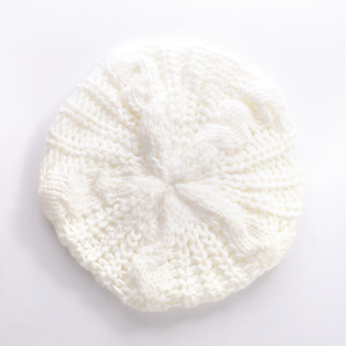 New  Fashion Lady's Warm Knitted Knit Braided Ski Cap Baggy Beanie Crochet Hat - White hot winter beanie knit crochet ski hat plicate baggy oversized slouch unisex cap