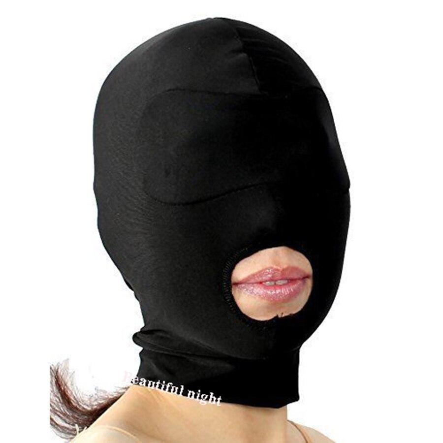 Soft Padded Blindfold HOOD,Open Mouth Eye Mask, Gag, Bondage, Fetish, BDSM, SM, Role Play, Unisex Sex Toys