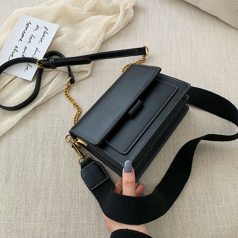 2019 Newest Hot Women Dating Party Satchel Ladies PU Leather Panelled Mini Handbag Messenger Shoulder Bag Crossbody Bags Satchel