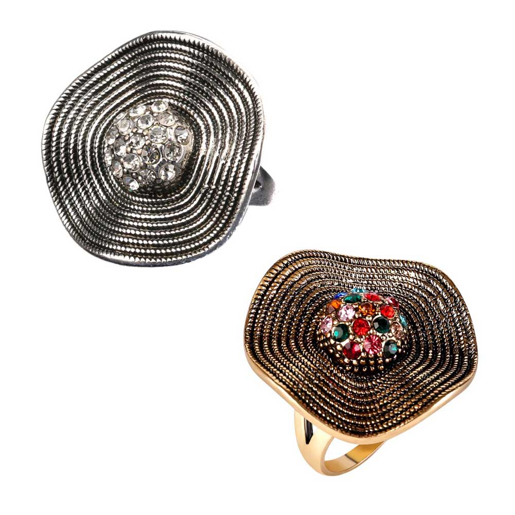 1 pc High Quality Ladies Rings Round Top Thread Rhinestone Shining Wedding Rings For Women Decoration Jewelry