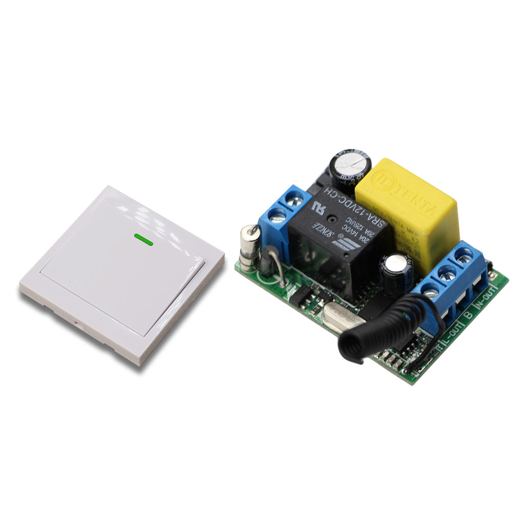 Nueva AC220 V 1CH Interruptor de Control Remoto Inalámbrico Sistema Receptor y T