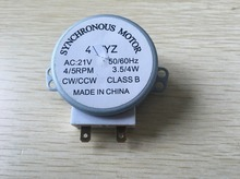 Microwave Oven Turntable Synchronous Motor 3.5/4W 4/5RPM AC 21V 50/60Hz