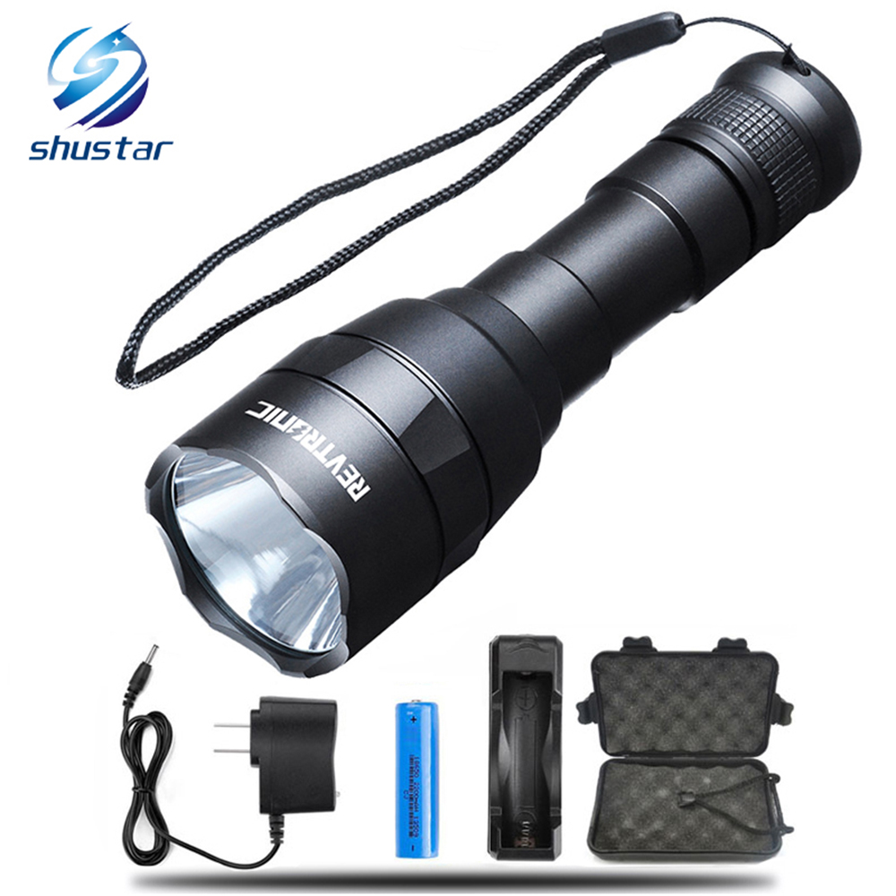 Mini Waterproof Led Rechargeable Flashlight Torch Super Bright Light Batterfa