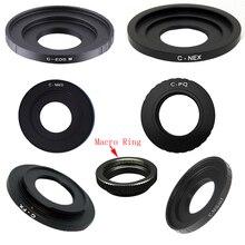 10pcs Anel C Filme Monte Lens Macro anel Adaptador Para C FX C PQ C EOSM N1 NEX C M4/3 CCTV lente filme