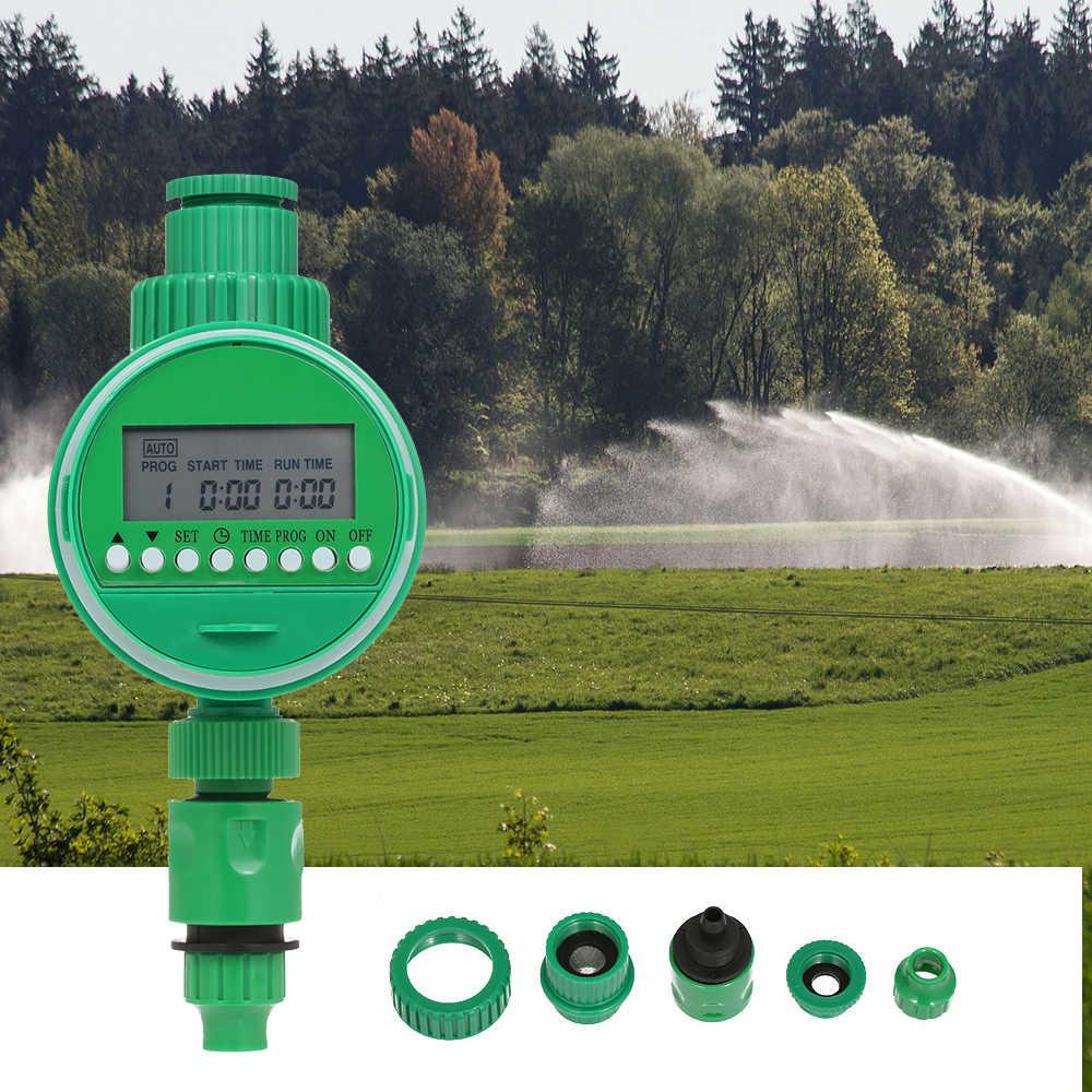 """Otomatis Penyiraman Taman Air Timer LCD Digital Bola Penyiraman Timer untuk 1/2 """"3/4"""" Faucet Penyiraman Sistem Irigasi Programmer"""