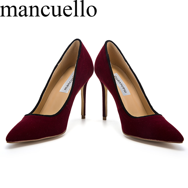 ФОТО 2017 Sexy Ladies Spring bordered Faux Suede Stiletto High Heels Pointed toe Dress Pumps  Slip On Party Pumps Women Single Shoes