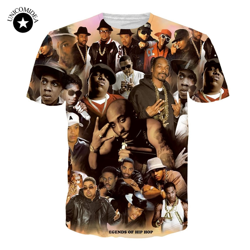 2863697eda3 Summer 3D T Shirt Men Legends Of Hip Hop 2pac Tupac/Biggie Smalls/Snoop
