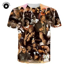 Sommer 3D T Hemd Männer Legends Von Hip Hop 2pac Tupac/Biggie Smalls/Snoop Dogg T-Shirt Hip-Hop Lustige t Tops Plus Größe Streewear(China)