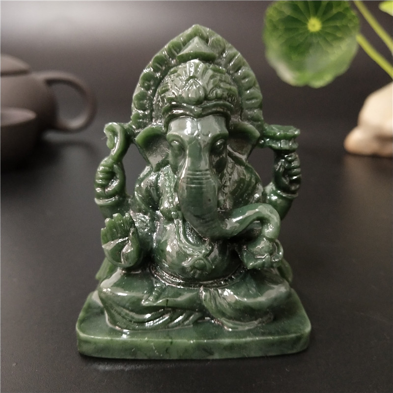 Estatua de Buda Ganesha elefante Dios escultura Feng Shui Ganesh figuritas Artesanías hechas a mano para accesorios de decoración para jardín de casa