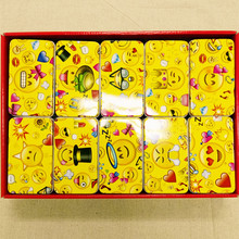 10pc/lot Smile Design Tin Box Rectangle Shape Gift Metal Storage Case Iron Jewelry Chocolate Hand-Made Soap