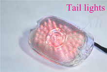 motorcycle parts RED Tail Light Softail Sportster Road King Dyna Electra Glide Fat Boy CL
