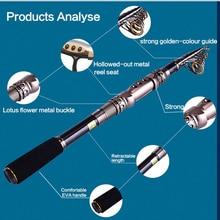 Big sale CASINO carbon fiber spin rod graphite saltwater travel rod telescopic fishing Rods 2.1m 2.7m 3.0m