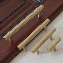 2.5 3.75 5 6.3 8.8Brushed Brass Hexagon Dresser Pull Knob Handles Kitchen Cabinet Handle Drawer Door
