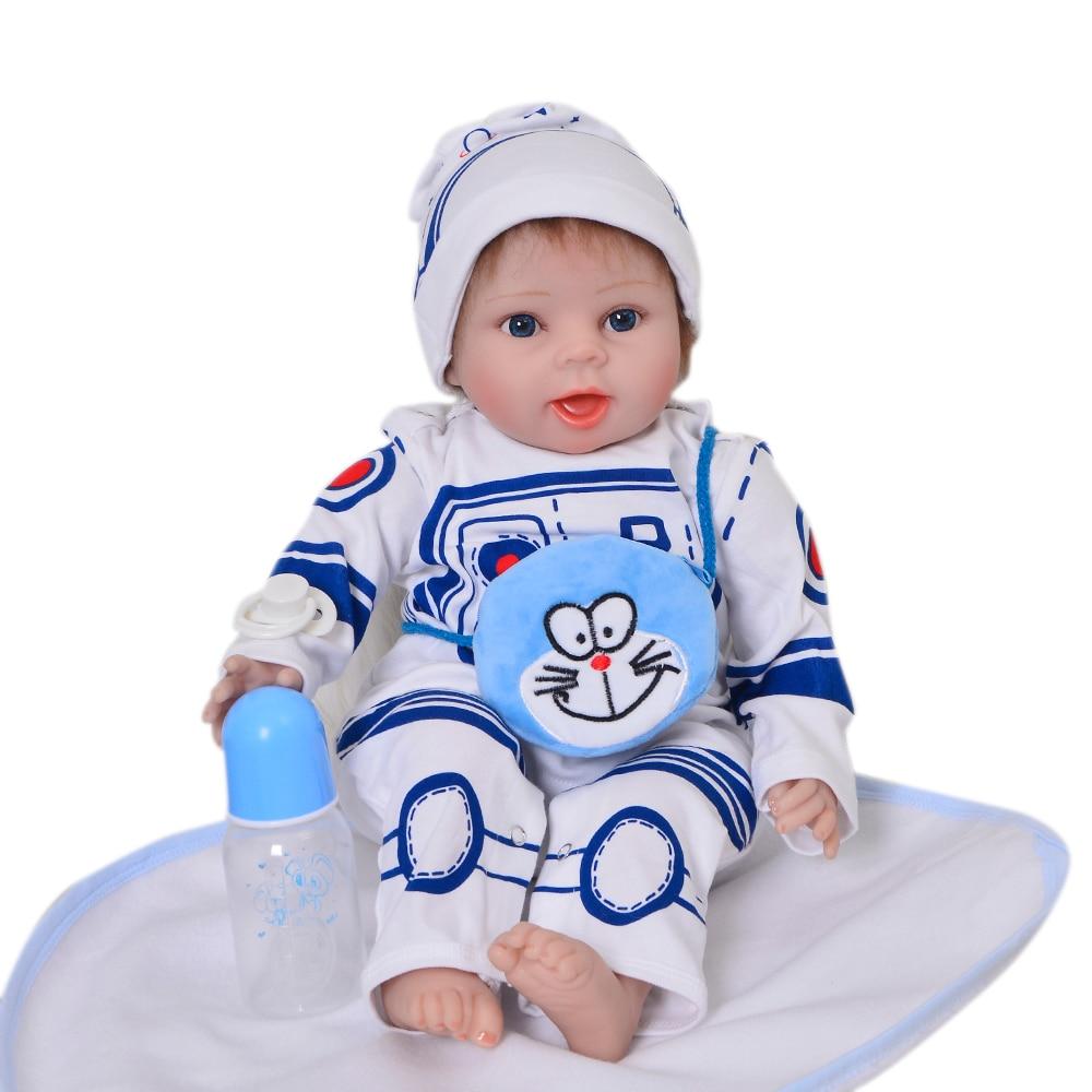 22 Smile Boy Silicone Reborn Baby Doll Cloth Body Lifelike Bebe Reborn Toy Hot Sale For Fashion Children Best Birthday Gifts