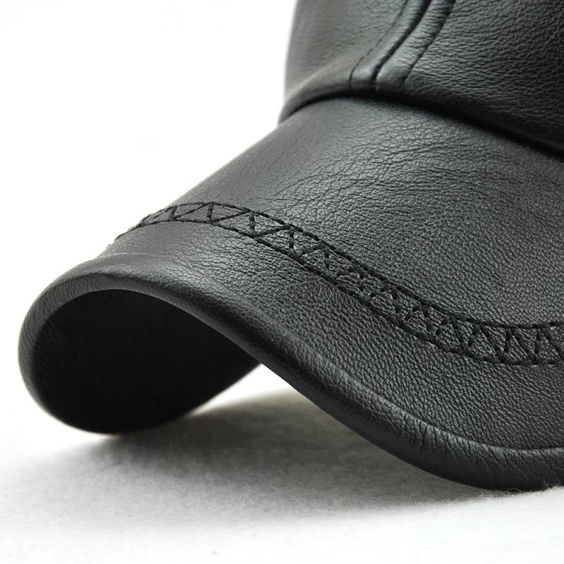 Xthree New fashion kualitas tinggi jatuh musim dingin pria kulit topi - Aksesori pakaian - Foto 4