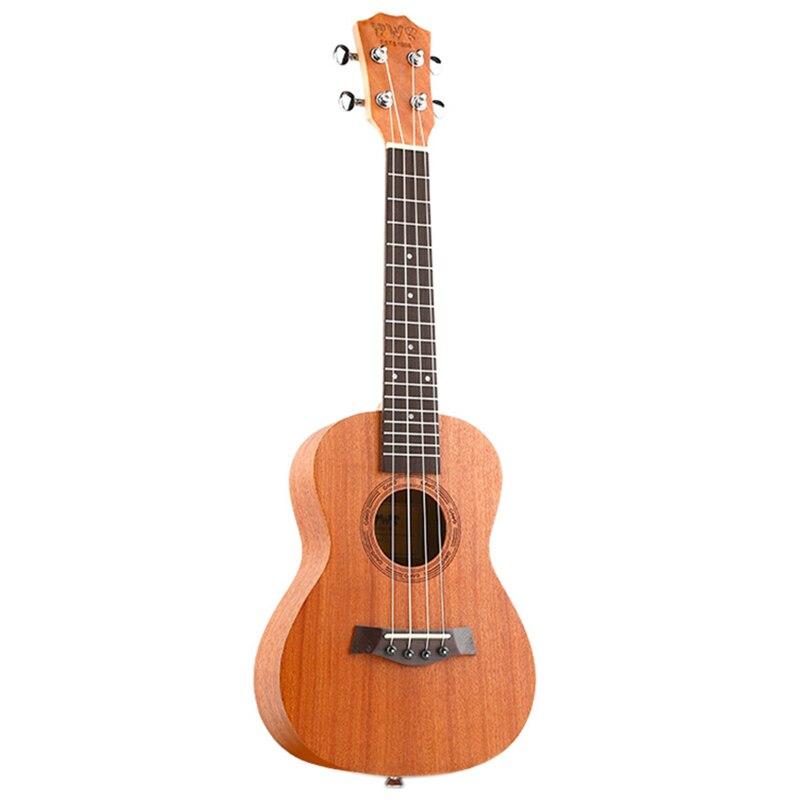Bws Est & 1988 26 Inch Mahogany Wood 18 Fret Tenor Ukulele Acoustic Cutaway Guitar Mahogany Wood Ukulele Hawaii 4 String Guita